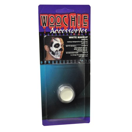 Carded White Mask Cover Halloween Makeup - All White Halloween Makeup