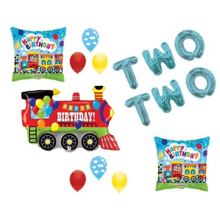 Chugga Chugga Two Two Train 2nd Birthday Party Balloons Decoration Supplies