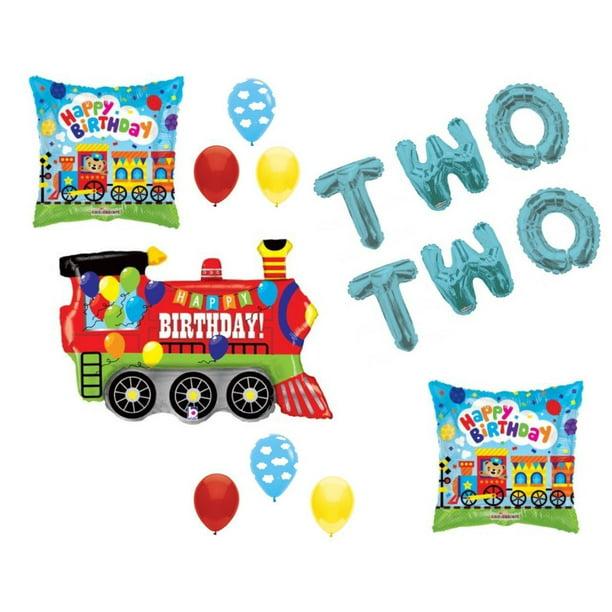 Chugga Chugga Two Two Train 2nd Birthday Party Balloons Decoration Supplies Walmart Com Walmart Com