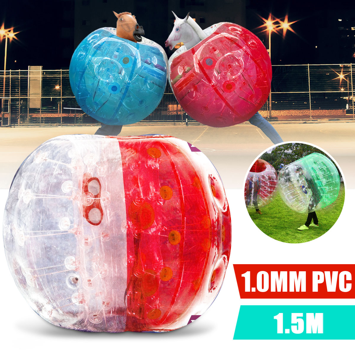 1.5m PVC Inflatable Bumper Ball Outdoor Entertainment Human Ball Bubble Soccer Football