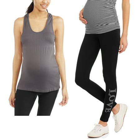 Labor of Love Activewear Bundle - Graphic Leggings and Racerback Tank