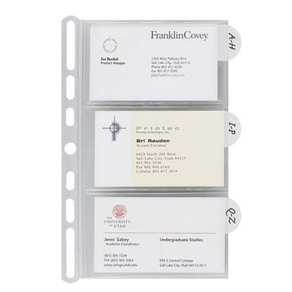 Insertables Categorized Business Card