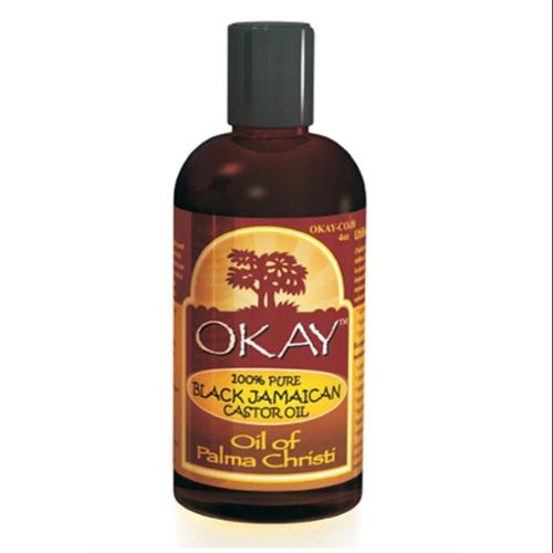 Okay 100% Pure Black Jamaican Castor Oil, 4 oz (Pack of 3)