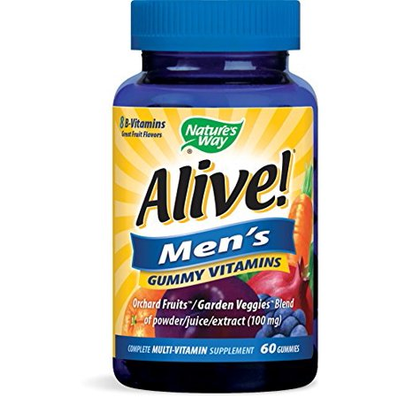 Alive! Men's Gummy Vitamins, Daily Multivitamin Supplements, 60