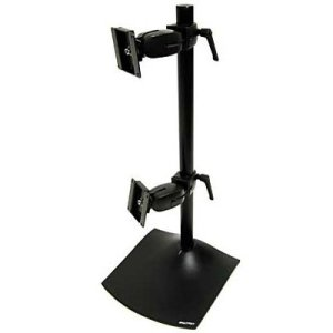 Flat Panel Monitor Lift Cabinet - Ergotron 33-091-200 DS100 Series Freestanding Dual Monitor Stand - Up to 46lb - Up to 20
