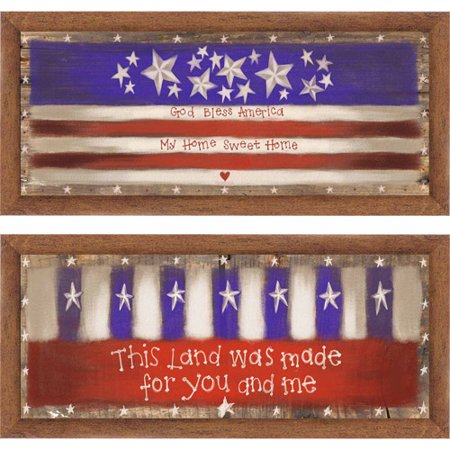 God Bless America Wall Art Set Of 2