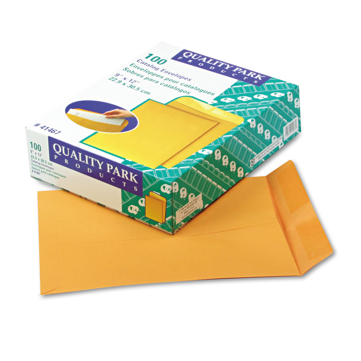 Quality Park Catalog Envelope, 9 x 12, Brown Kraft, 100/Box -QUA41467