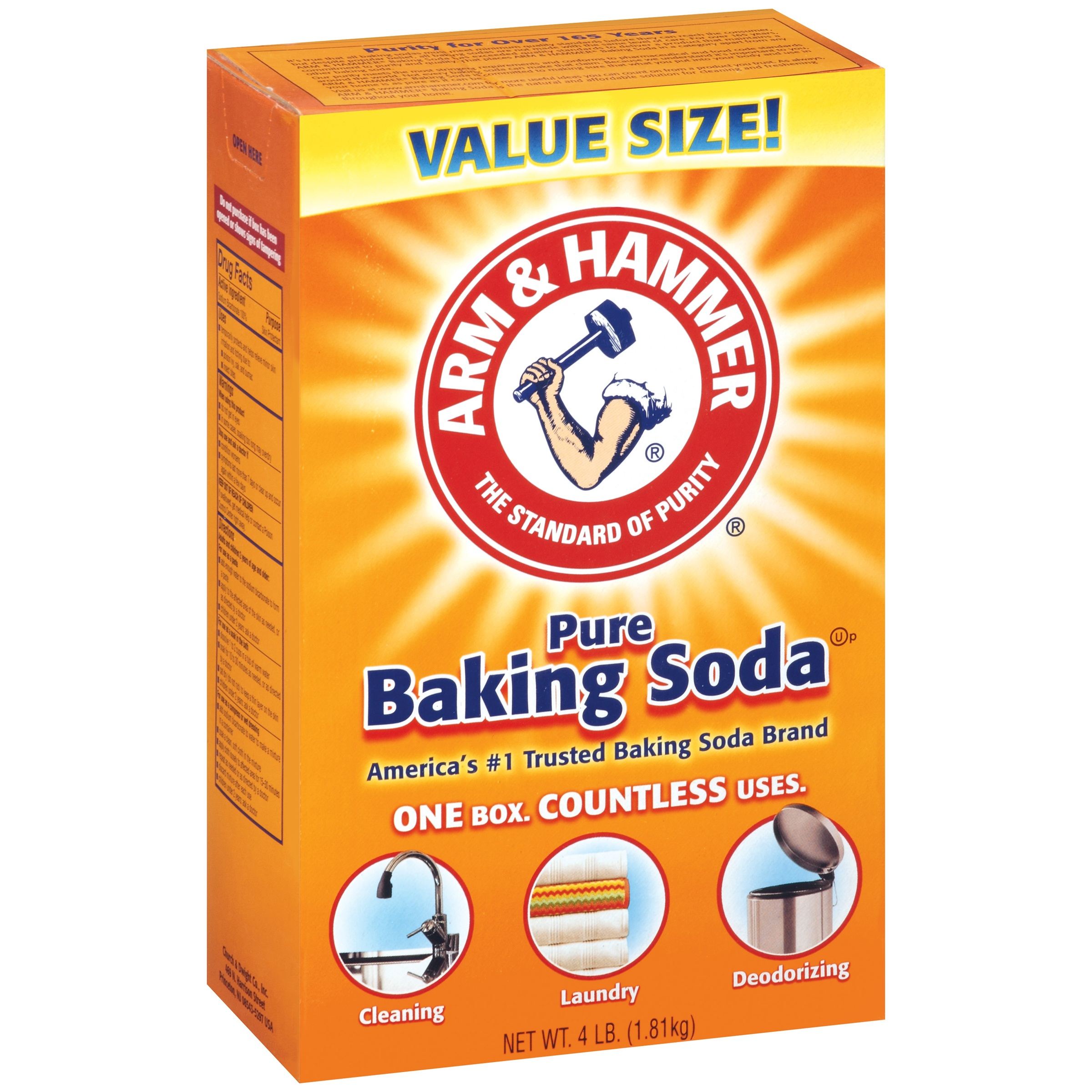 (4 Pack) Arm & Hammer Pure Baking Soda, 4 Lb