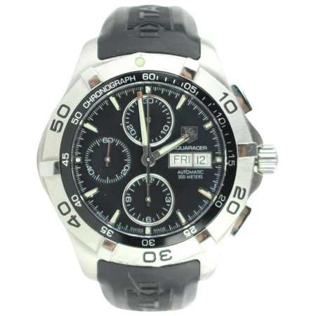 TAG Heuer Silver 2000 Aquaracer Day-date Chronograph Stainless Steel 26mz0129