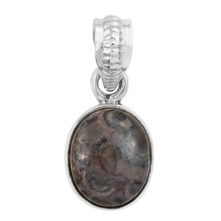 Artisan Crafted Rhyolite Jasper Sterling Silver Pendant Necklace for Women