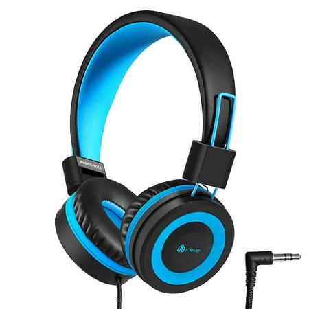 Headband Stereo Headphones - iClever Kids Headphones - Wired Headphones for Kids, Adjustable Headband, Stereo Sound, Foldable