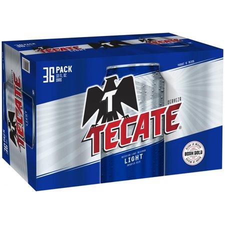 Cerveza Tecate Light Beer 36 Pack 12 Fl Oz Cans