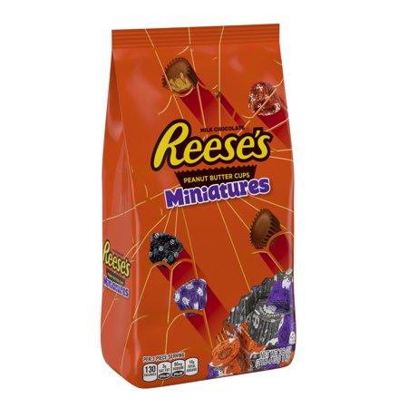 Reese's, Halloween Miniatures with Spooky Foils Candy, 36 Oz - Reese Pieces Halloween Size