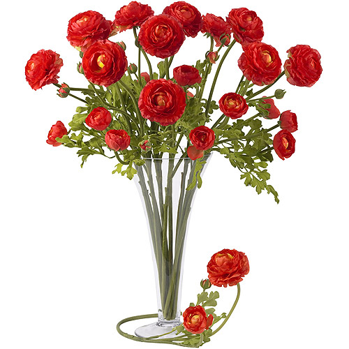 "23"" Ranunculus Stem, Red, 12pc"