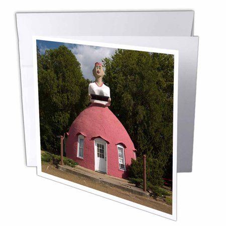 3dRose Mammys Cupboard Restaurant in Natchez, Greeting Cards, 6 x 6 inches, set of 6