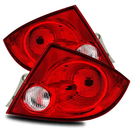 For 05 10 Chevy Cobalt Sedan Red Clear Left Right Tail Lights Rear Brake Lamps Replacement Embly Set