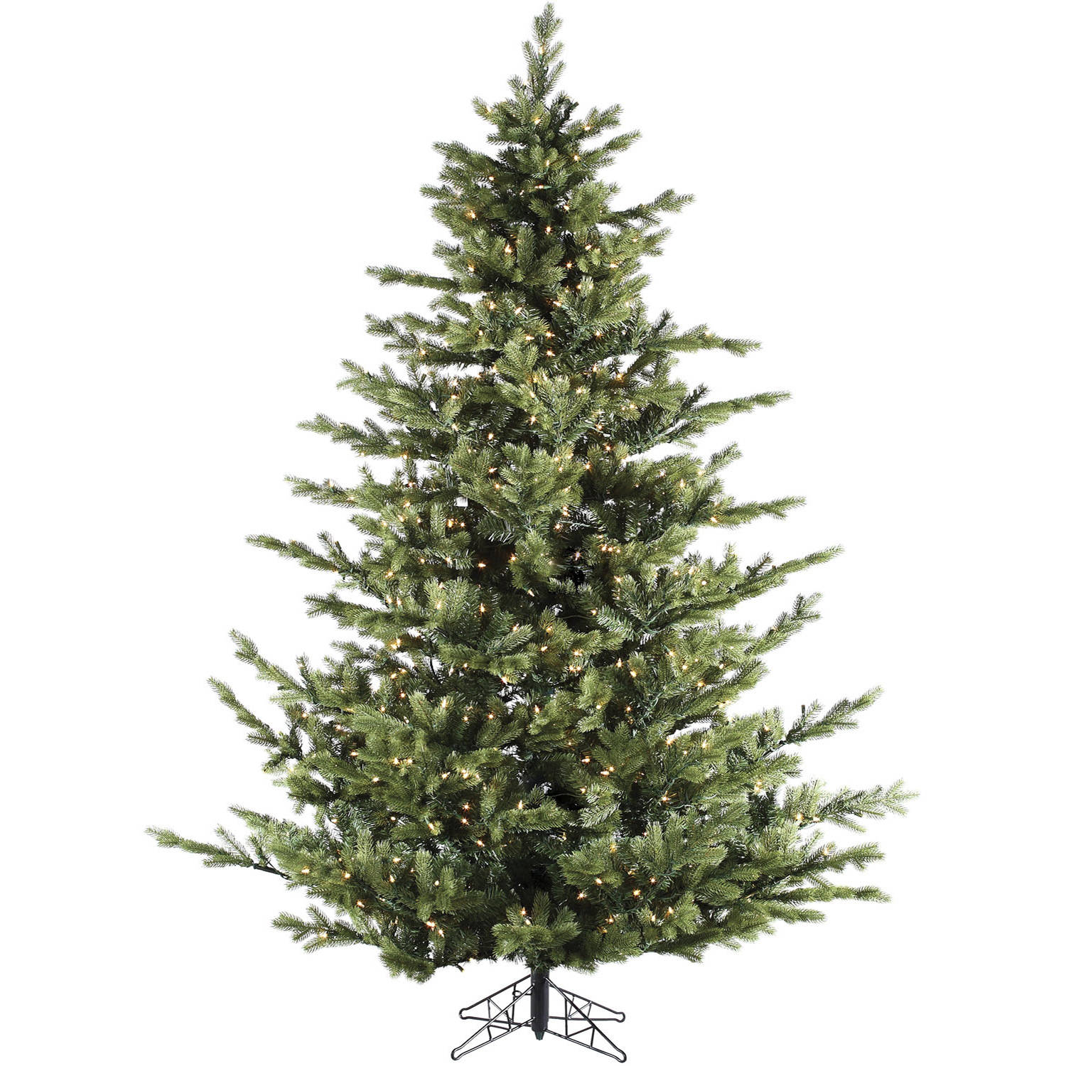 Fraser Hill Farm Pre-Lit 7.5' Foxtail Pine Artificial Christmas Tree with Multi-Color LED String Lighting