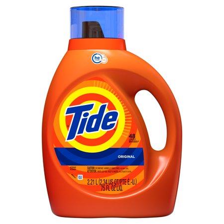 Tide HE Turbo Clean Liquid Laundry Detergent, Original, 48 Loads, 2.21 L