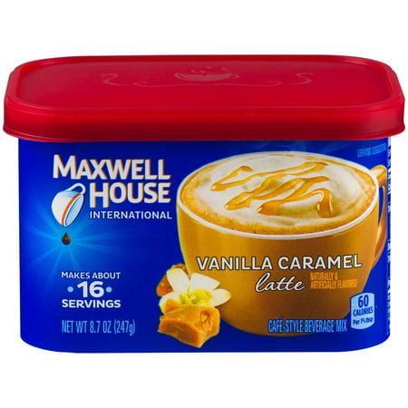 Caramel Vanilla Toffee - (4 Pack) Maxwell House International Vanilla Caramel Latte, 8.7 oz Canister