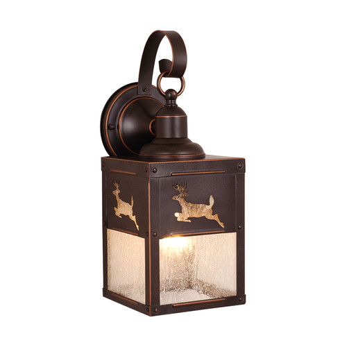 Yellowstone Outdoor Burnished Bronze 13 in. Outdoor Wall Light