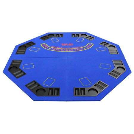 4 Fold Octagon Poker/Blackjack Table Top - Blue - Blackjack Table