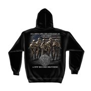 United States Army Brotherhood Hooded Sweatshirt by , Black, 2XL
