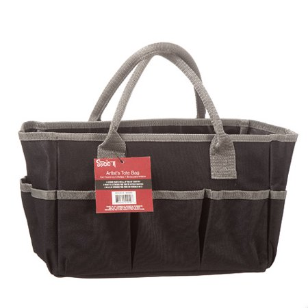 Arm Tote - Studio 71 Art Tote Bag: Black, 12 x 7.5 inches
