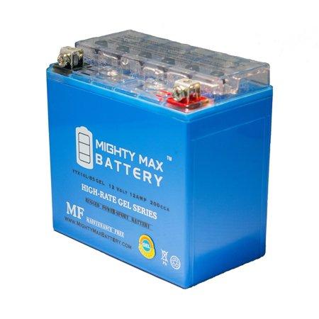 YTX14L-BS GEL Battery for Harley Sportster 1200 Custom XL1200C 04-16 ()