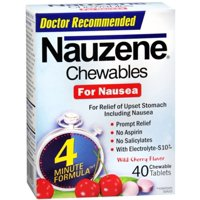 Nauzene Chewables Wild Cherry Flavor 40 Tablets (Pack of 2)