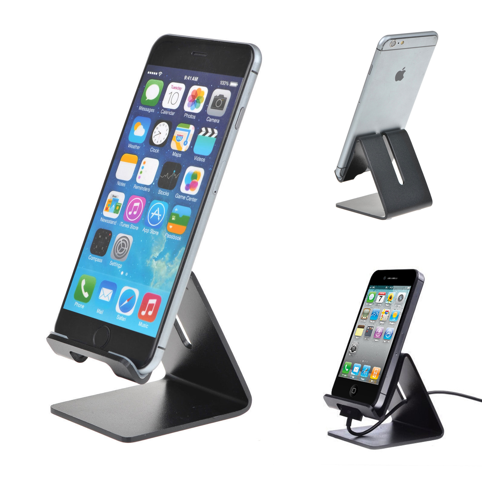 Universal Desk Aluminum Metal Portable Stand Holder Mount For Phone and Tablet