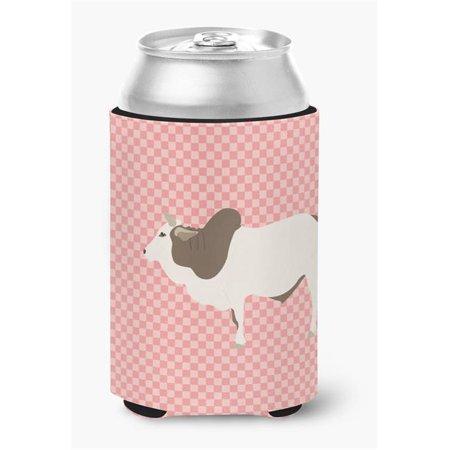 Malvi Cow Pink Check Can or Bottle Hugger - image 1 de 1