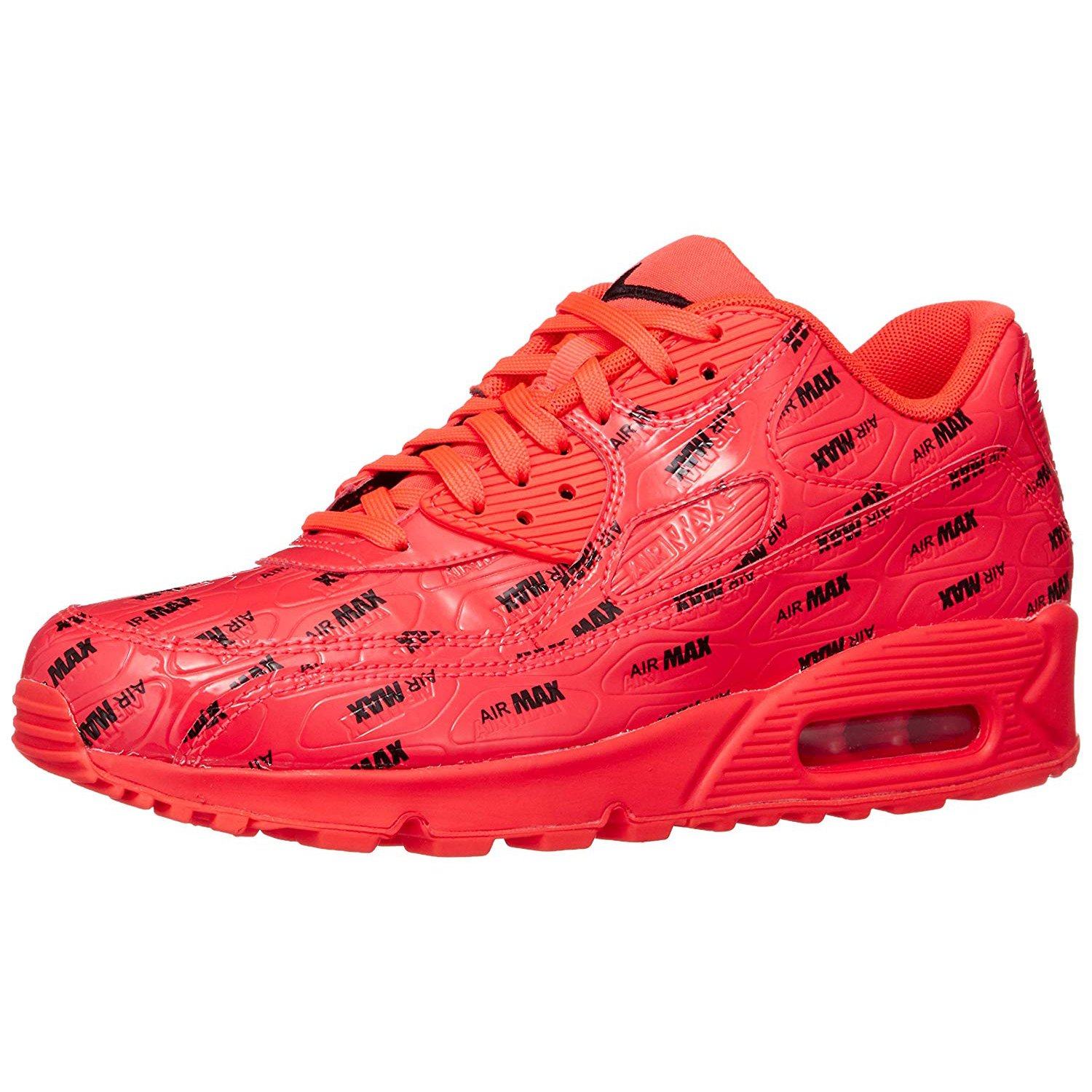 livraison gratuite ec93d 07a7b Nike Air Max 90 Premium Men's Low Top Athletic Sneakers Red 700155-604