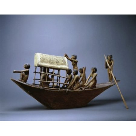 Model of a Funeral Boat Egyptian Art Musee du Louvre Paris Canvas Art - (24 x 36)