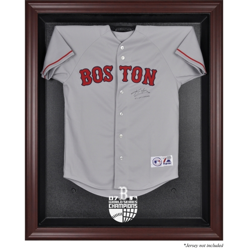 Boston Red Sox Fanatics Authentic 2007 World Series Champions Mahogany Framed Logo Jersey Display Case - No Size