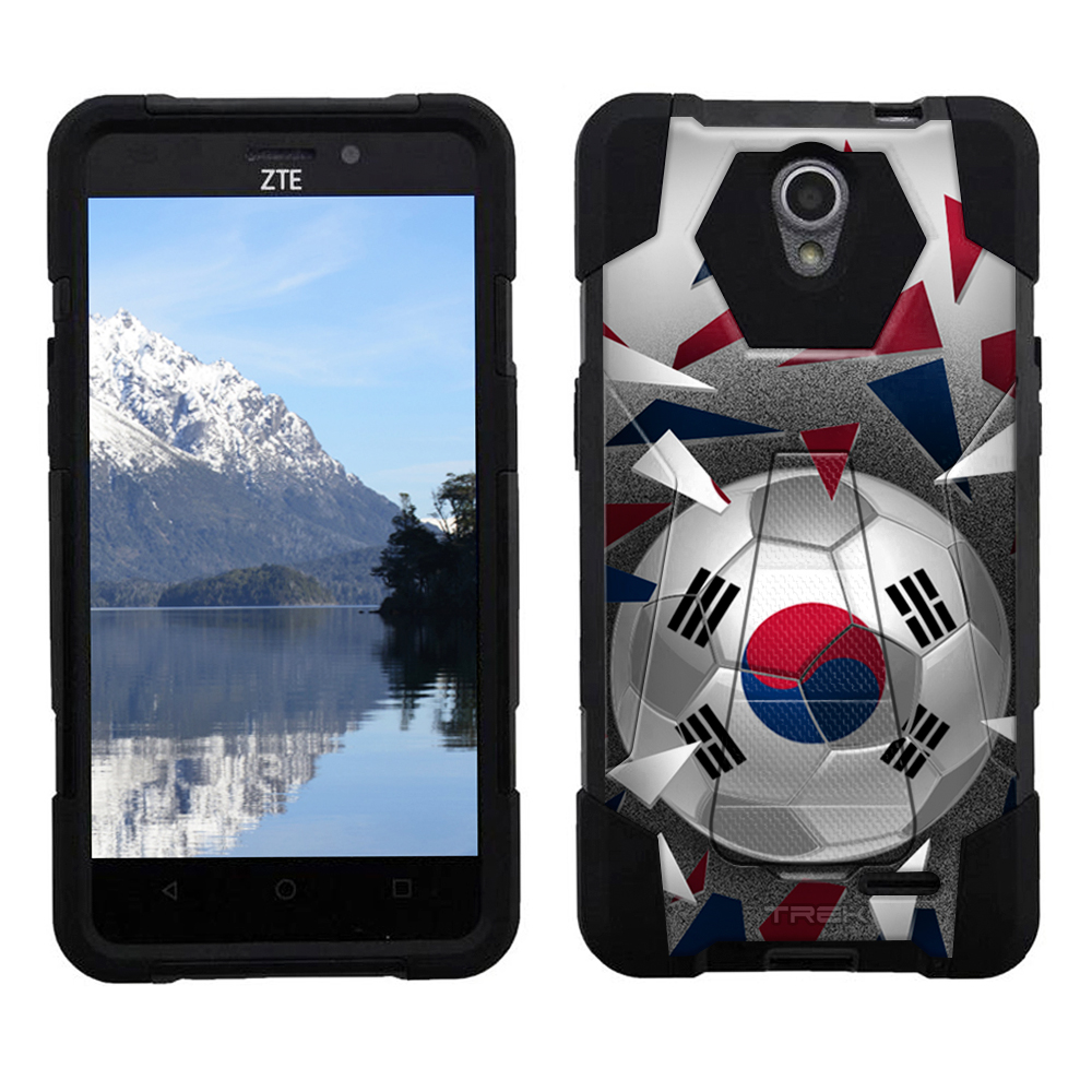 ZTE Chapel Hybrid Stand Case Soccer Ball Korea Flag by Trek Media Group