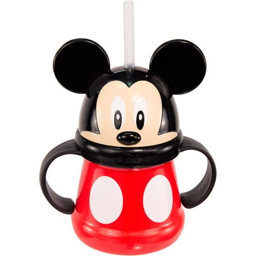 Sassy Disney Mickey Mouse 10 oz Straw Cup, BPA-Free