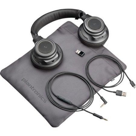 Plantronics Backbeat Pro+ Wireless, Noise Canceling Headphones + Hi-fi Usb Adapter Stereo Mini-phone Wired... by