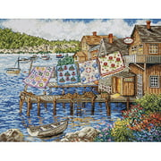 "Tobin Dockside Quilts Counted Cross-Stitch Kit, 12"" x 16"", 14 Count"