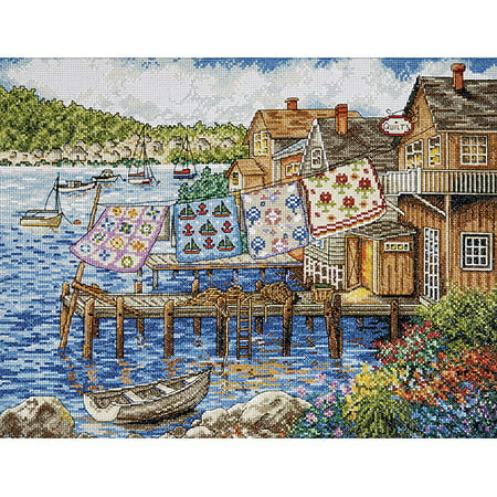 Complete Quilt Kit (Tobin Dockside Quilts Counted Cross-Stitch Kit, 12