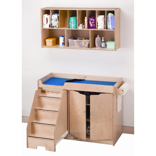 Jonti-Craft Left Changing Table with Stairs Combo by Jonti-Craft
