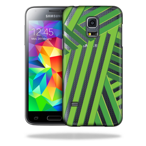 MightySkins Snap-On Protective Hard Case Cover for Samsung Galaxy S5 Mini Palm Fronds