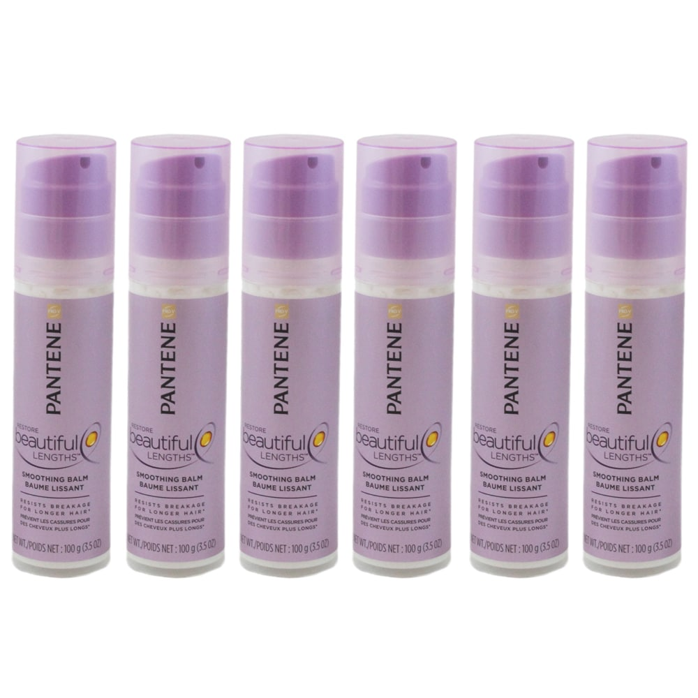 Pantene  Beautiful Lengths Smoothing Pro-V Restore 3.5-ounce Hair Balm (Pack of 6)