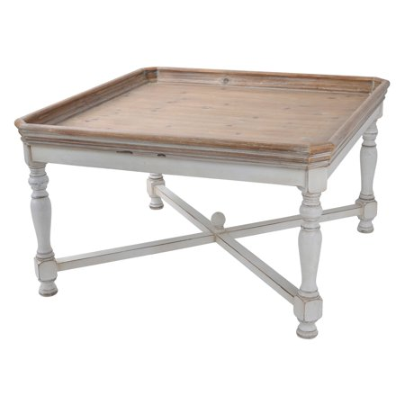 A & B Home Farmhouse Tray Square Coffee Table by A&B Home