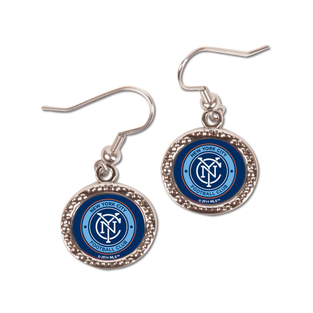 New York City FC Round Earrings