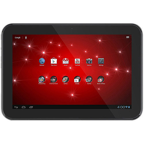 """Toshiba Thrive 10.1"""" Touchscreen Tablet PC Featuring Android 4.1 (Jelly Bean) Operating System, Black"""