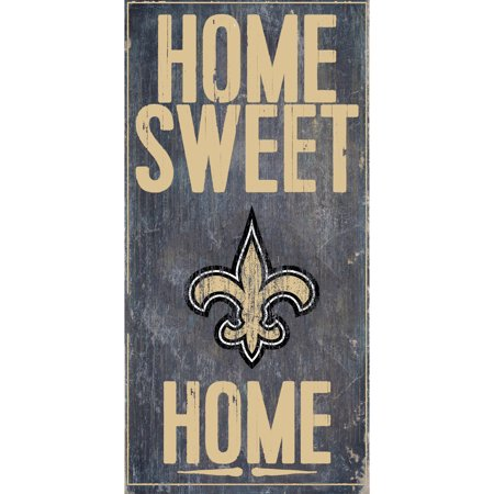 New Orleans Saints Framed - New Orleans Saints 6'' x 12'' Home Sweet Home Sign - No Size