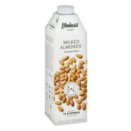 Almond Roasted Milk ((6 Pack) Elmhurst Milked Unsweetened Almond Milk, 1)