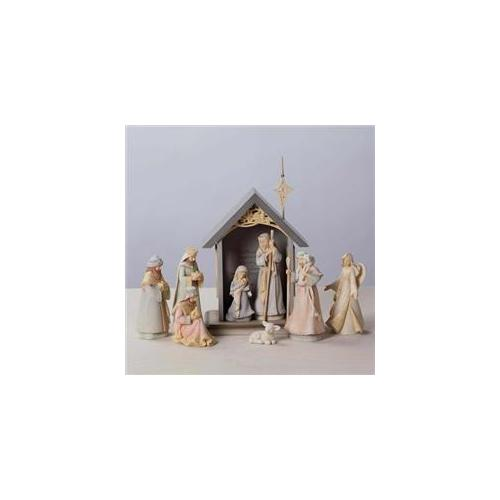 Enesco 114912 Nativity, Foundations 9 Piece Set - Mini