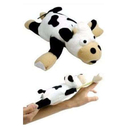 Flingshot Slingshot Flying Screaming Screeching Black & White Cow Stuffed Animal Toys -9