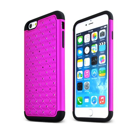 buy popular 8edee c606f Apple iPhone 6 Plus Holster Case, [Purple] Supreme Protection Hard Plastic  Case w/ Kickstand on Silicone Skin Dual Layer Hybrid Case w/ Holster - ...